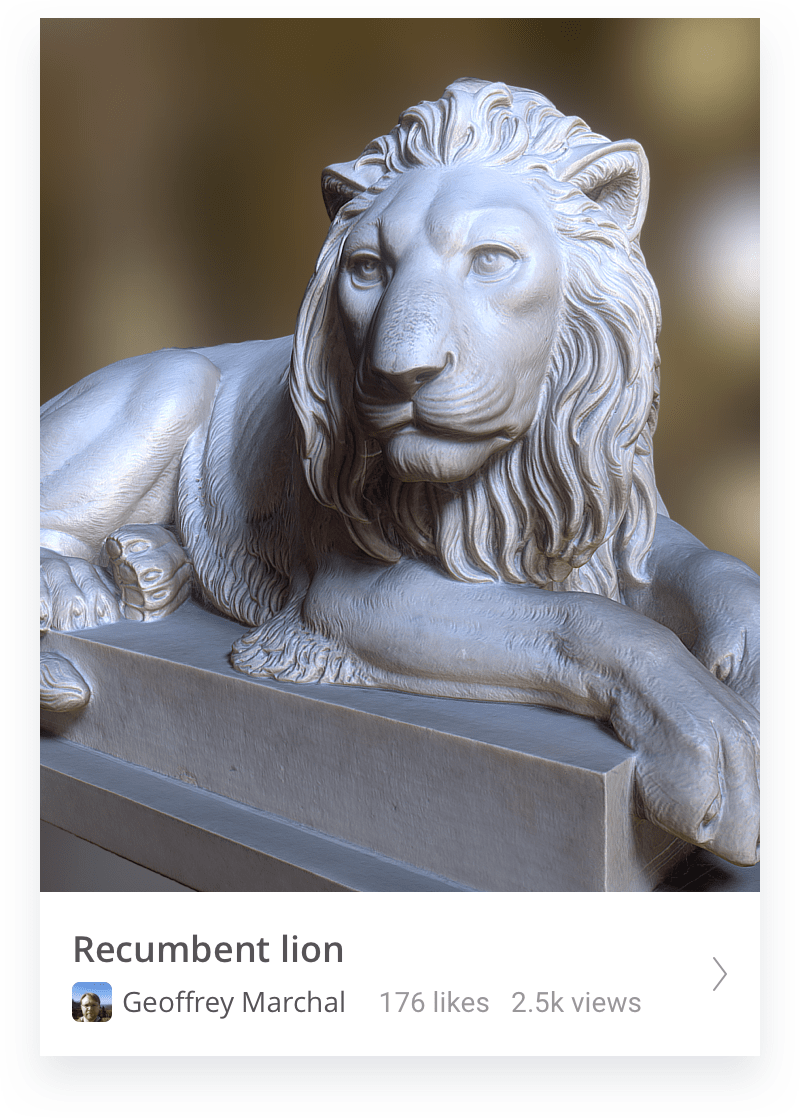 Recumbent lion thumbnail