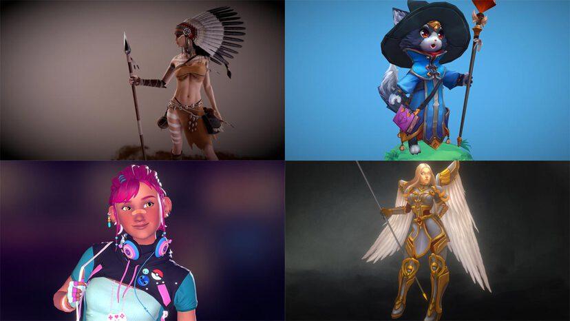 Characters & Creatures 3D models