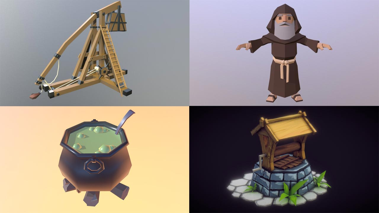 Download Free 3D Models - Royalty Free - Sketchfab