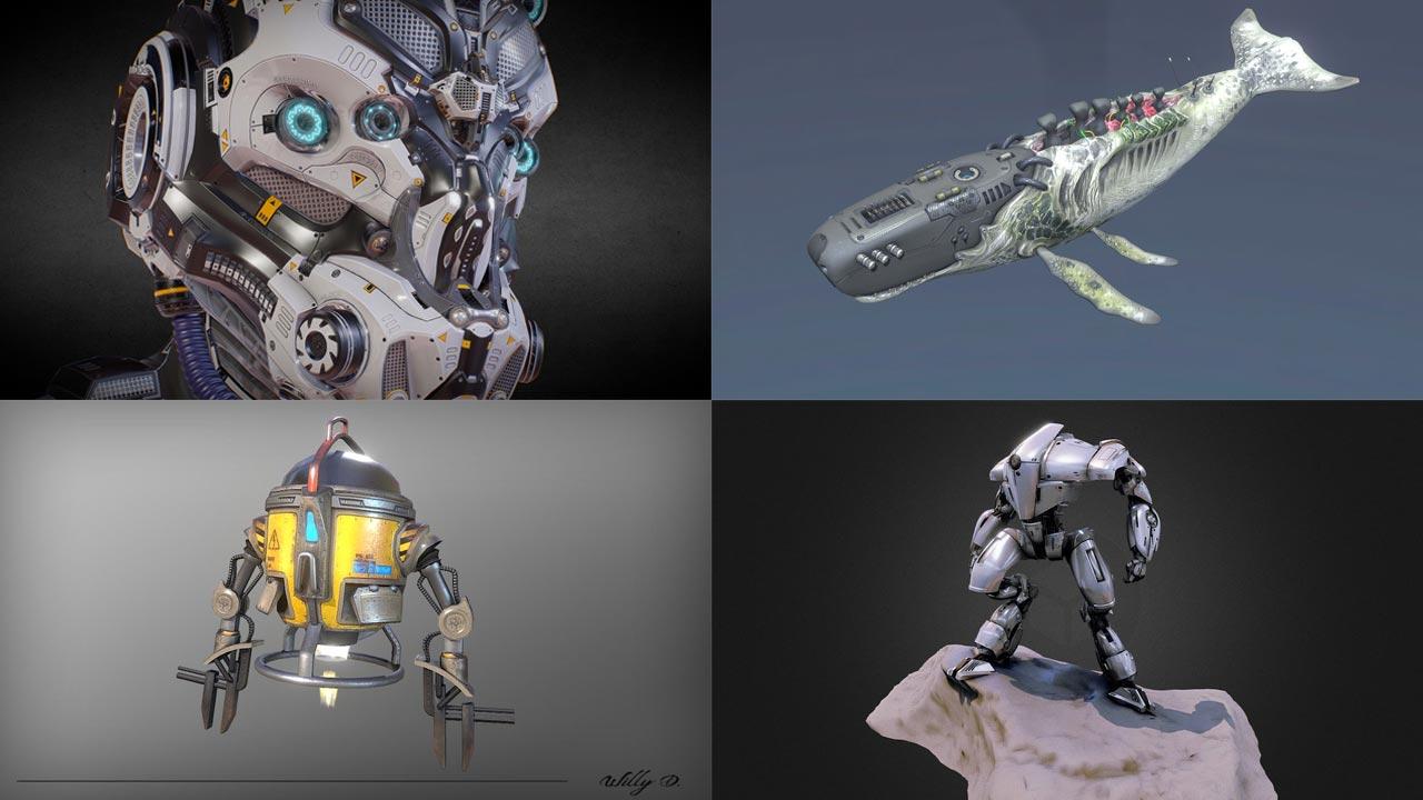 Robots 3D models