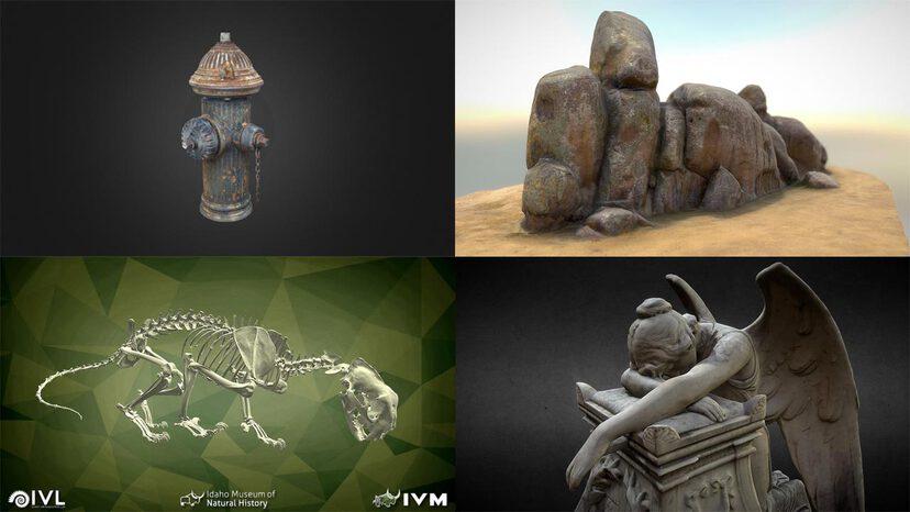 3D Scans 3D models