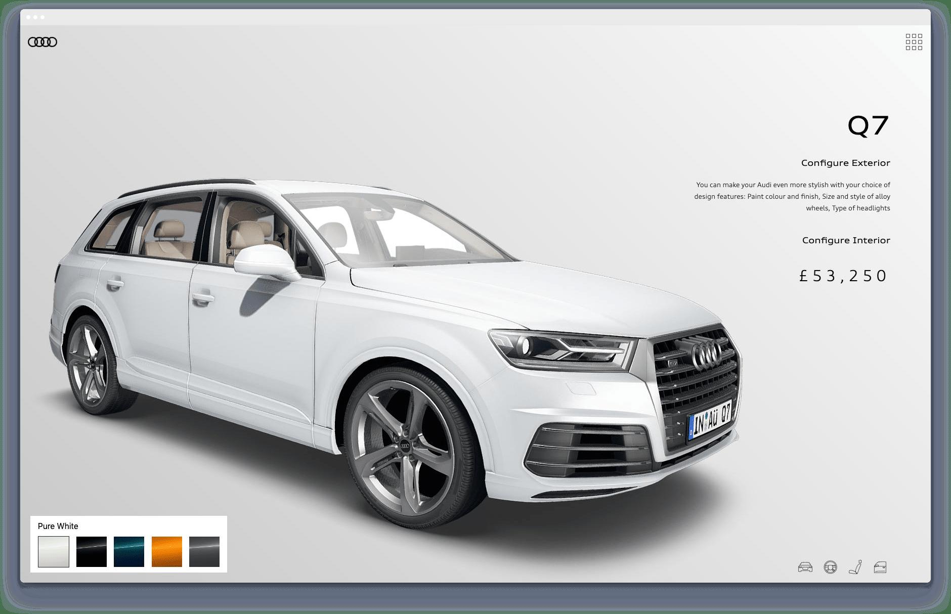 Audi configurator